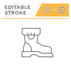Industrial boot line icon vector