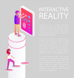 interactive reality devices vector image