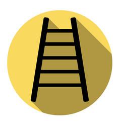 ladder sign flat black icon vector image
