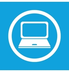 Laptop sign icon vector