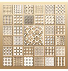 laser cut panels vector image