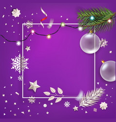 merry christmas and happy new year greetings vector image