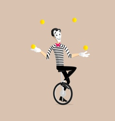 Mime performance - the juggler vector