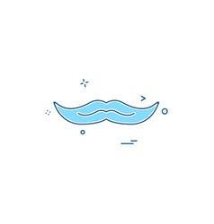 mustache icon design vector image