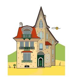 Nice mansion vector