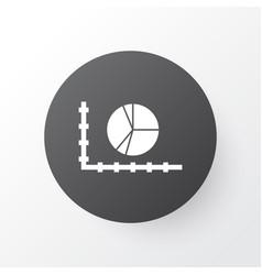 Pie chart icon symbol premium quality isolated vector