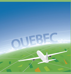 Quebec flight destination vector