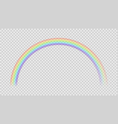 rainbow realistic natural effect after rain vector image