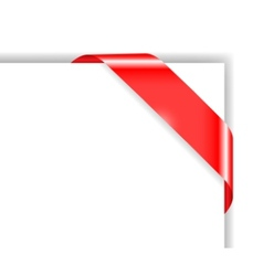 red colored corner bow vector image