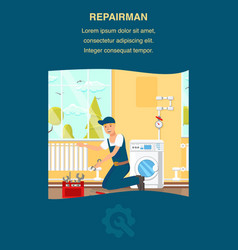 repairman service website banner template vector image