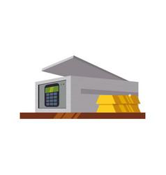Safe deposit strongbox keypad vector
