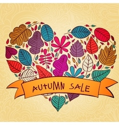 Seasonal autumn sale background with vector image
