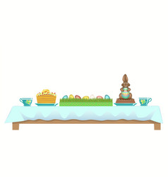 served easter table vector image