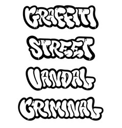 Set graffiti vector