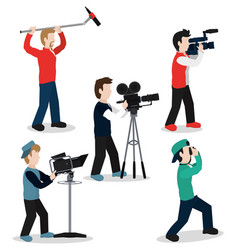 set of camera mens vector image