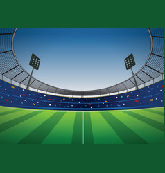 Soccer football stadium background vector