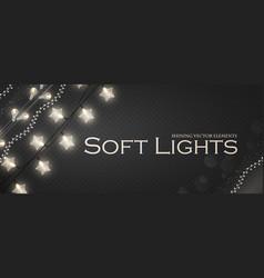 soft light garlands collection transparent vector image