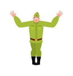 Soviet soldier confused emoji oops retro russian vector