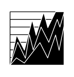Statistics graph isolated icon vector