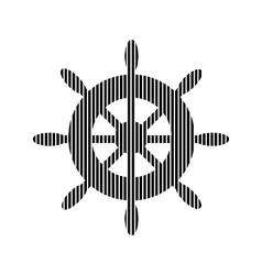 Steering wheel sign on white vector image