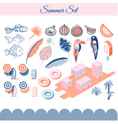 summer holidays clip art objects vector image