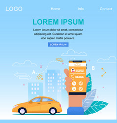 taxi online application service square banner vector image