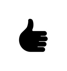thumbs up hand social network like flat icon vector image