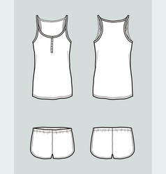Top and shorts vector