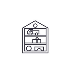 toys closet line icon sign vector image
