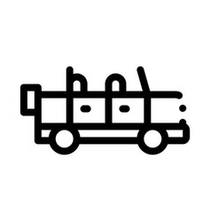 travel car icon outline vector image