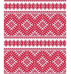 Ukrainian red seamless folk emboidery pattern or p vector
