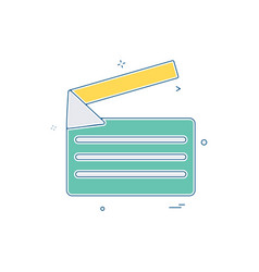 video video-player icon design vector image