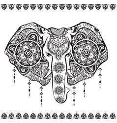 Vintage indian elephant vector
