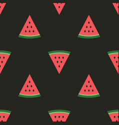 Watermelon pieces seamless pattern fruity vector