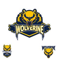 wolverine sport symbol vector image