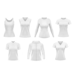 women clothes tshirt hoodie and polo design vector image