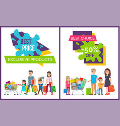 best price and choice promo vector image