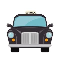 british classic taxi vector image