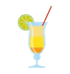 drawing cocktail drink alcohol brazil vector image