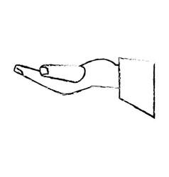 Hand groom proposal sketch vector
