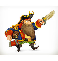Pirate funny character icon mesh vector image vector image