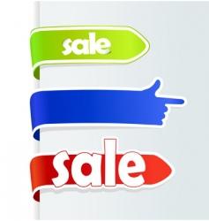sale arrows vector image vector image