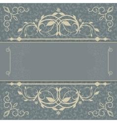 Vintage luxury card vector image vector image