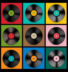 vintage vinyl records vector image