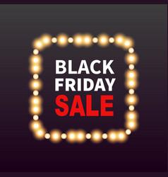 black friday sale banner background with frame vector image