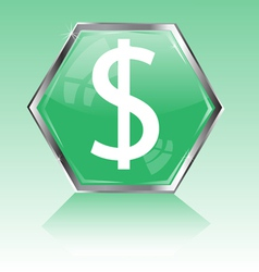 Button with scene of the dollar vector image vector image