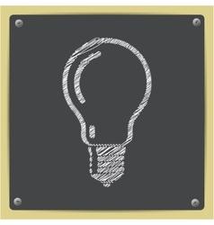 chalk drawn sketch oficon vector image vector image