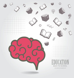 Education abstract conceptual background vector image