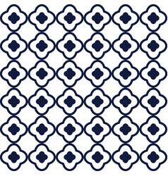 Line quatrefoil tiny seamless pattern vector