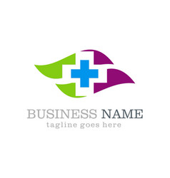 medical hospital logo design vector image